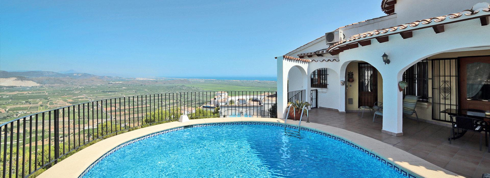 acb.immo - Belle villa de 3 chambres avec piscine privée et vue mer à Monte Pego