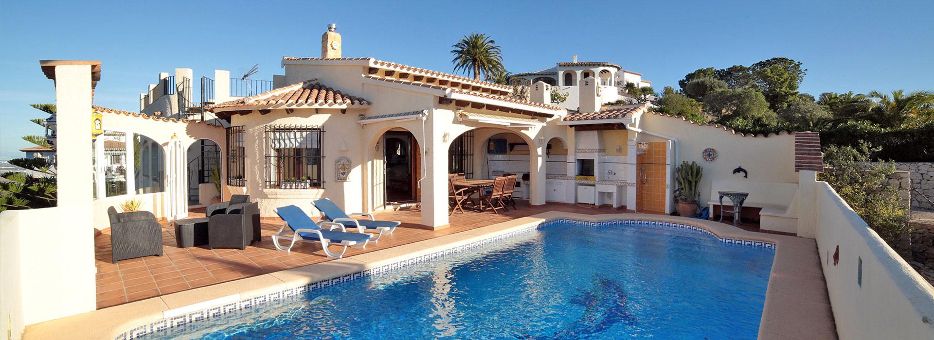 acb.immo - Grande villa ensoleillée avec piscine et vues panoramiques à Monte pego, Denia